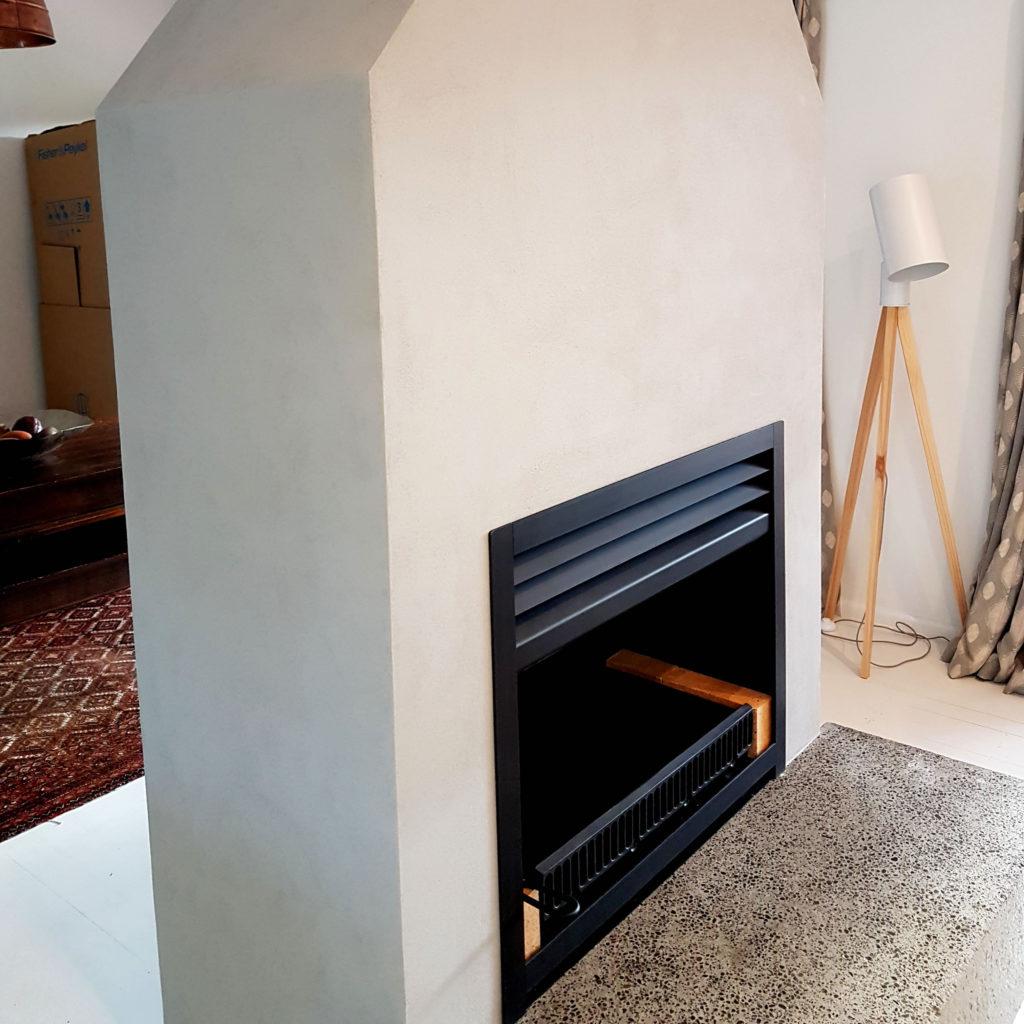 Fireplace plastering